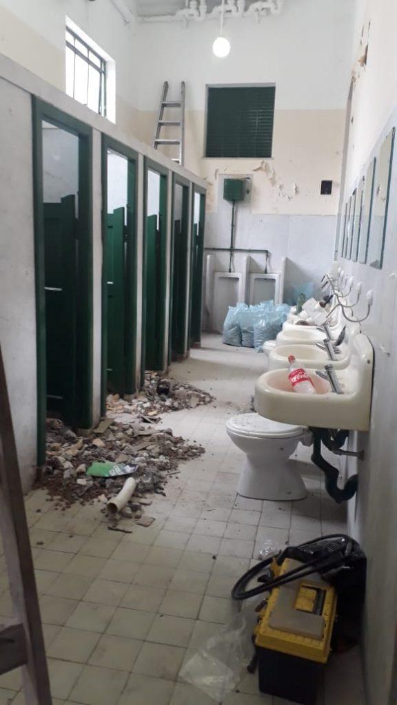 Obra en baños